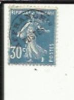 1 Timbre Preobliteré -Type-Semeuse Fond Plein 30cts Bleu 1915 -sans Gomme - Préoblitérés
