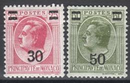 MONACO 1924 / 1933  - Y.T. N° 104 ET 105 - NEUFS* TRACES DE CHARNIERES (lot178) - Neufs