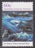 1989 AAT Australian Antarctic Territory  Antarctic Landscapes 60c GLACIAL FLOW SIR SYDNEY NOLAN MUH. - Australian Antarctic Territory (AAT)