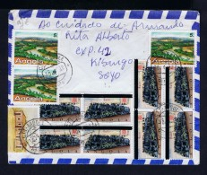 RAILWAY Overprint Trains Trens Ferrocarriles 8x Painting MUXIMA Raul Indipwo 12x Angola Portugal Cover 1992 Suisse S3934 - Trenes
