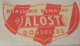 RARE ETIQUETTE  BRASSERIE DEHAVAY GOSSELIES ALOST ROUGE - Bière