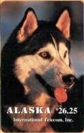 Alaska - ASK-20, Alaskan Sled Dogs, Quiet Husky, 26.25$, 1.500ex, 11/94, Mint - Phonecards