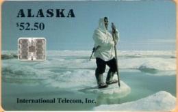 Alaska - Alaskan Eskimo Hunter / Spring Sea Ice , 52.50$, 5.000ex, 3/94, Mint - Phonecards