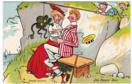 Seaside Spooners The Lover's Seat, Romance Humor, Octopus, C1910s Vintage Postcard - Illustrators & Photographers