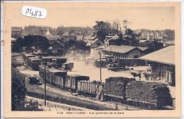 PONT-L ABBE-- VUE INTERIEURE DE LA GARE- TRAIN AVEC CHARGEMENT DE BOIS - Pont L'Abbe