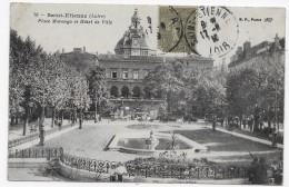 (RECTO / VERSO) SAINT ETIENNE EN 1918 - N° 76 - PLACE MARENGO - PLI ANGLE HAUT A GAUCHE - BEAU CACHET - CPA - Saint Etienne