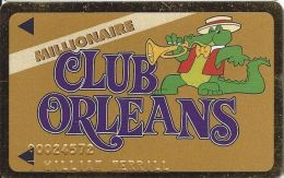 Orleans Casino Las Vegas NV - 5th Issue Millionaire Club Orleans Slot Card (No Mfg Mark) - Casino Cards