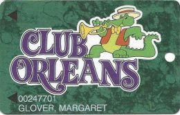 Orleans Casino Las Vegas NV - 6th Issue Slot Card - 11mm Mag Stripe - No Mfg Mark - PRINTED - Casino Cards