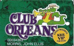 Orleans Casino Las Vegas NV - 7th Issue Slot Card - PPC Over 11mm Mag Stripe - KJUL VIP - Casino Cards