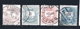 Ungarn, Ca. 1874, Freimarken Mit Farbigen Ziffern 2 - 3 - 5 - 10Kr., Gestempelt (15984E) - Ungarn