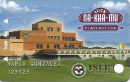 Isleta Casino Albuquerqu NM - Hard To Find 2nd Issue Slot Card - Lighter Colors On Front - Casino Cards