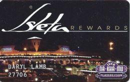 Isleta Casino Albuquerqu NM - 3rd Issue Slot Card - Embossed Player Info - Casino Cards