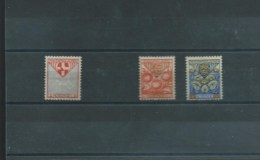 PAYS-BAS 1926 Y.T. 186-189 SANS LE 187 MH/* - 1891-1948 (Wilhelmine)
