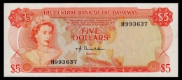 Bahamas 5 Dollars 1974 P.37a XF-aUNC - Bahamas