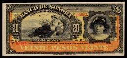 Mexico Sonora 20 Pesos 1899-1911 UNC- - Mexico