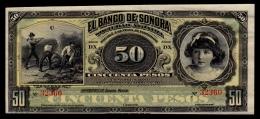 Mexico Sonora 50 Pesos 1899-1911 UNC- - Mexico