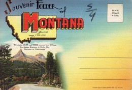 "Large Letter Souvenir Folder ""Greetings From Montana"" With 18 Views (1945/50) - Etats-Unis"