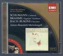CD -  SCHUMANN - BRAHMS - BACH/BUSONI - ARTURO BENEDETTI MICHELANGELI, Piano - Klassik