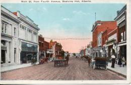 Canada. Main Street From Fourth Avenue, Medecine Hat, Alberta. - Alberta