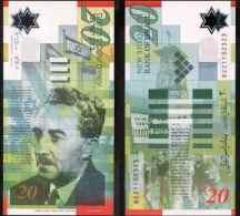 Israel 20 New Shekels 2008 UNC (polymer) - Israel