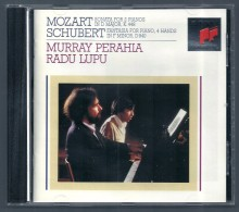 CD PIANO -  MOZART - SCHUBERT - MURRAY PERAHIA Et RADU LUPU, Piano - Classique