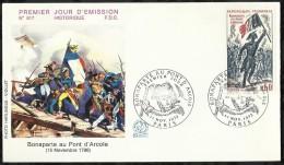 BONAPARTE AU PONT D'ARCOLE . 11 NOVEMBRE 1972 . PARIS . - 1970-1979