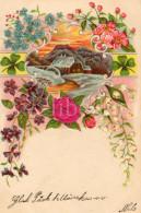 Postcard / CP / Postkaart / RELIEF / Fleurs / Flowers / Sweden / Silk Flower / Fleur De Soie - Cartoline