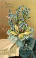 Postcard / CP / Postkaart / RELIEF / Fleurs / Flowers / Hartelijk Gefeliciteerd / Printed In Germany / 1915 - Sonstige