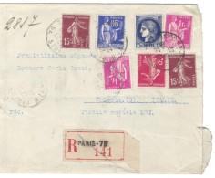 XXX369 FRANKREICH 1938 RECO - BRIEF Starke Gebrauchsspuren Siehe ABBILDUNG - Covers & Documents