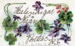 Postcard / CP / Postkaart / RELIEF / Fleurs / Flowers / From Sweden To America / 1907 - Sonstige