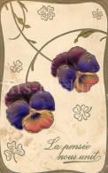 Postcard / CP / Postkaart / RELIEF / Fleurs / Flowers / La Pensée Nous Unit / Ed. P F B / Serie 8384 / 1912 - Sonstige