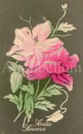 Postcard / CP / Postkaart / RELIEF / Fleurs / Flowers / Amitié Sincère / Unused - Sonstige