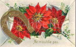 Postcard / CP / Postkaart / RELIEF / Fleurs / Flowers / Ne M'oublie Pas / Ed. SB No 7051 / 1913 / Horseshoe - Sonstige