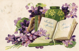 Postcard / CP / Postkaart / RELIEF / Fleurs / Flowers / Modeste Offrande Du Coeur / Ed. AOL / 1907 - Altri