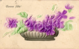 Postcard / CP / Postkaart / RELIEF / Fleurs / Flowers / Bonne Fête / 1908 - Sonstige