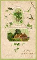 Postcard / CP / Postkaart / RELIEF / Fleurs / Flowers / A L'amie De Mon Coeur / 1900 - Sonstige