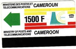 Cameroun 1500 F, Magnetic Phonecard - Cameroun