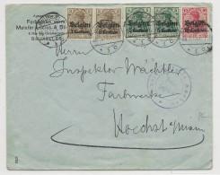 BELGIQUE - 1915 - ENVELOPPE Avec CENSURE (AACHEN) De BRUXELLES Pour HOECHST (GERMANY) - Guerre 14-18