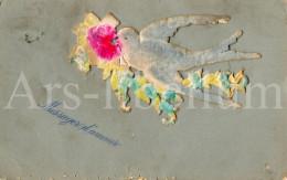 Postcard / CP / Postkaart / RELIEF / Fleurs / Flowers / Messager D'amour / Pigeon / 1906 - Sonstige