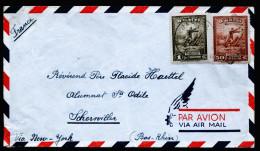 A3953) Haiti Airmail Cover From Jacmel 5.1.1953 To France - Haiti