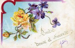 Postcard / CP / Postkaart / RELIEF / Fleurs / Flowers / Amitié Douce Et Sincère / 1905 - Sonstige