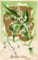 Postcard / CP / Postkaart / RELIEF / Fleurs / Flowers / Bonne Fête / 1907 - Sonstige