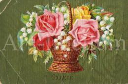 Postcard / CP / Postkaart / RELIEF / Fleurs / Flowers / Souvenir / Printed In Germany - Sonstige