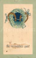 Postcard / CP / Postkaart / RELIEF / Fleurs / Flowers / Ne M'oubliez Pas / 1908 / Horseshoes - Sonstige