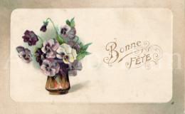 Postcard / CP / Postkaart / RELIEF / Fleurs / Flowers / Bonne Fête / 1912 - Sonstige