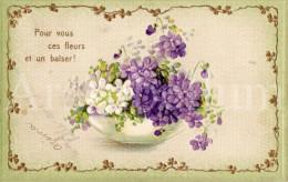 Postcard / CP / Postkaart / RELIEF / Fleurs / Flowers / Pour Vous Ces Fleurs Et Un Baiser / 1908 - Sonstige