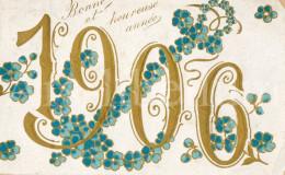 Postcard / CP / Postkaart / RELIEF / Fleurs / Flowers / Bonne Et Heureuse Année / 1906 - Sonstige