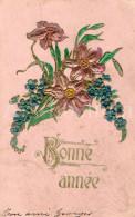 Postcard / CP / Postkaart / RELIEF / Fleurs / Flowers / Bonne Année / 1906 - Sonstige
