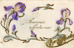 Postcard / CP / Postkaart / RELIEF / Fleurs / Flowers / Souvenir Affectueux - Sonstige