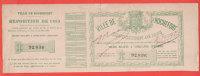 Ancien Billet - LOTERIE Ville De ROCHEFORT Exposition De 1883 - Billets De Loterie